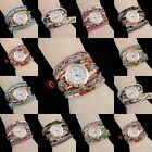 Women's Candy colors Silver belt Charm Quartz Jewelry Bracelet Wristwatch