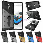 Hybrid Shockproof Heavy Duty PC + TPU Kickstand Case Cover For Meizu M3 Note