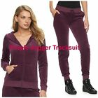 NWT JUICY COUTURE Tracksuit Velour Jacket Jogger Pants Women Gym  XS S M L