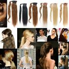 Fits like halo High Straight Clip in Ponytail 100%  Human Hair Extension 80g