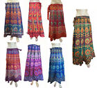 Indian Women Ethnic Floral Rapron Printed Cotton Long Skirt Wrap Around Skirt 01