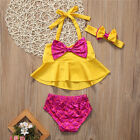 Kids Baby Girls Tankini Bikini Set Swimwear Swimsuit Bathing Suit Beachwear