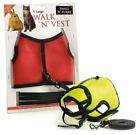 Small N Furry Walk N Vest Small Animal Safety  Pet Harness & Leash  With Bell