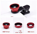 3in1 ZH12 Clip On Camera Lens 180°Fisheye+Wide Angle+Macro For Cell Phone HuaWei