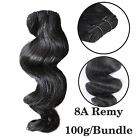 8A 100/300g Unprocessed Natural Color Remy Human Hair Weft Loose Wave Extensions