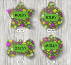 70'S FLOWERS POWER PET TAG ID CUSTOM PERSONALIZED 2 SIDES -fgt6Z