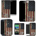 PERSONALISED INITIALS CASE FOR HTC MOBILES - american flag MONOGRAM