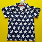 American Flag Patriotic Stars Baby Toddler Kids Short Sleeve T-Shirt 100% Cotton