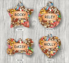 PUGS AND MORE PUGS PET TAG ID CUSTOM PERSONALIZED 2 SIDES -krt4Z