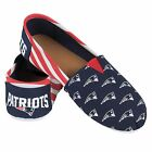 NEW ENGLAND PATRIOTS STRIPED CANVAS SLIP ON SHOES   LADIES SIZES  CHOOSE