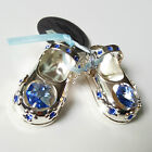 Crystal Silver Plated Temptations Shoe and Dummy for a Baby Boy Girl