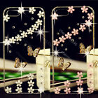 Bling 3D Butterfly Transparent TPU Soft Ultra Thin Back Case Cover Skin #1 M11