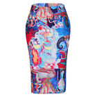 D157 Fashion Style Sexy Oil Painting Long Skirts S-XXXXL