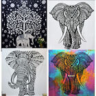 Queen Elephant Tapestry Indian Wall Hanging Hippie Boho Bedspread Psychedelic
