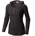 $60 Columbia Women's WEEKDAY WAFFLE™ Henley Long Sleeve Hoodie Shirt AL1706-011