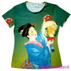 JAPANESE NOBLE GEISHA Lantern Light TEE T SHIRT TOP ASIAN ART PRINT JAPAN UKIYOE