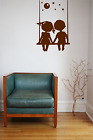 Boy and Girl Swinging Together Wall Art Decal Sticker Personalised Love Gift