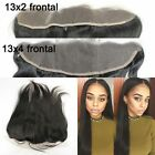 "13x2""Peruvian Straight Ear To Ear Virgin Human Hair Full Lace Frontal Closure"