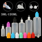 5-120ml Plastic Squeezable Dropper LDPE Juice Liquid Water Bottle Childproof Cap