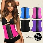 Women exercise wear Latex Rubber Waist Trainer Underbust Corset Top body bustier