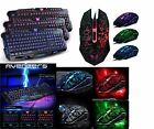 Cracked Backlit Red/Purple/Blue Backlight LED Pro Gaming Keyboard M200 USB Wired