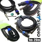NEUTRIK® Speakon Leads All Lengths XLR JACK SPEAKON DJ PA Amp Leads 1m-20m
