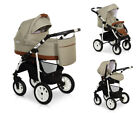 New! Eco-Leather Details LASER CASUAL Baby Pram Buggy Car Seat Travel Set 3in1