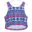 J40000 Women Aztec Casual Crop Top Soft Vest Stretchy Tank Sleeveless Blouse Hot