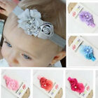 Baby Kid Girl Flower Headband Lace Soft Elastic Headwear Hair Band Headdress