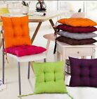 NEW COLOURFUL SEAT PAD DINING ROOM GARDEN KITCHEN CHAIR CUSHIONS WITH TIE ON