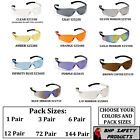 PYRAMEX ZTEK SAFETY GLASSES ANSI Z87+ COMPLIANT VARIETY PACKS AND COLORS