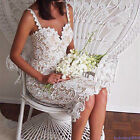 Women Summer Cocktail V Neck Lace Ball Party Evening Bodycon Midi Dress Attract9