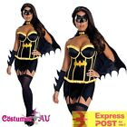 Ladies Superhero Batgirl Costume Halloween Hens Party Batwoman Fancy Dress