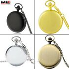 Vintage Smooth Antique Pocket Chain Quartz Watch Pendant Necklace Gift Retro US