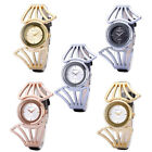 New Women Dress Waterproof Stainless Steel W/ Leather Quartz Analog Bangle Watch