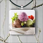 ICE CREAM DESSERT PENDANT NECKLACE 3 SIZES CHOICE -fkh8Z
