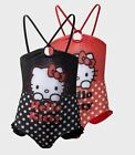 Girls Swimming Costume Hello Kitty 1 Piece Swimsuit NEW OFFICIAL