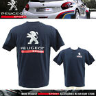 NEW! PEUGEOT SPORT RALLY MENS T-SHIRT NAVY/WHITE 100% COTTON ALL SIZES