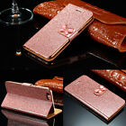 Luxury Leather Magnetic Flip Stand Bling Wallet Cover Case For iPhone 6s 7 Plus