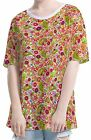 Mushrooms Poppies Paisley Women Elbow Length Sleeve Tee T-shirt b101 acq02626