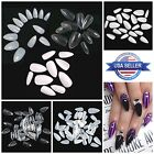 STILETTO Pointed FULL COVER Almond Press On Talon Nail Tips **YOU CHOOSE!**