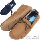 Mens / Gents Soft Suede Slipper / Indoor Shoes with Adjustable Tie