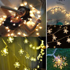 US Warm White LED Indoor Bedroom Christmas Party Decor String Star Fairy Lights