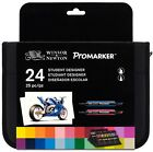 Brand New Winsor & Newton Professional ProMarkers BrushMarkers Set of 6,12 & 24