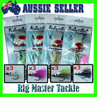 Fishing DIY Hairy Hooks Snapper Flasher Mixed Colours 4/0 5/0 6/0 or 8/0 12-pack