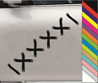 "NEW 15 Color  ""Zip tie stotches laces"" Decal Car Window BUMP Funny Vinyl Sticker"