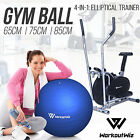 NEW WORKOUT WIZ Elliptical Cross Trainer Swiss Ball YOGA Exercise Bicycle HOME