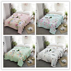 Adult Cotton Twill Printing Summer Quilt Mechanical Wash Blanket Twin Queen King