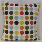 TRENDY MULTI COLOURED SPOTTED SCATTER CUSHION COVERS SAME FABRIC FRONT AND BACK