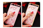 Bling Shiny Diamond TPU + Ring Holder + Lanyard Kickstand Case Cover FOR Huawei